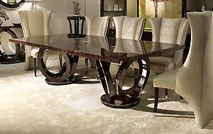 Designer Macassar Ebony Dining Table Elliptical Luxury Dining