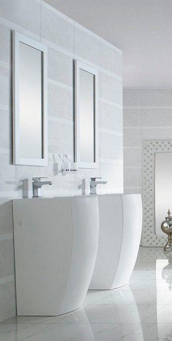 Modern Bathroom Pedestal Sink Bolzano Modern Bathroom