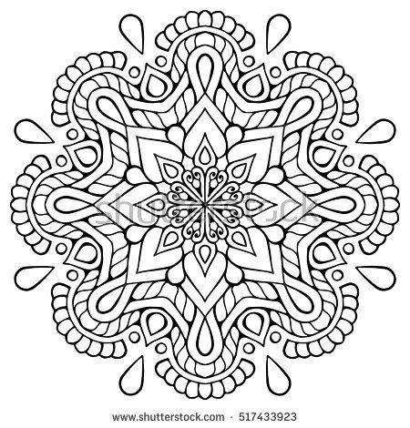 Blumen Mandala Vintage Dekorative Elemente Orientalisches Muster Vektorillustrati Mandal Mandalas Zum Ausmalen Mandala Ausmalen Orientalische Muster