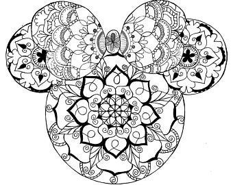 Mandala Minnie Svg Etsy Mickey Mouse Coloring Pages Mandala Coloring Pages Disney Tattoos