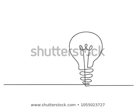 Continuous Line Drawing Electic Light Bulb Eco Idea Metaphor Vector Illustration Dibujo Lineal Vector Illustration