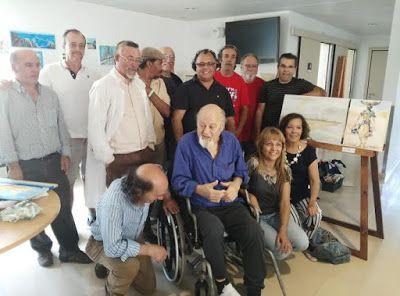 O Palhetas na Foz: Artista plástico Mário Silva e o jornalista Carlos...