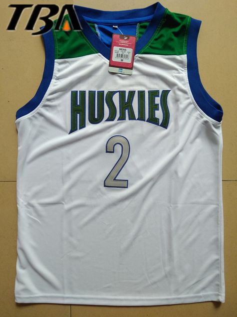 2017 Tba Lonzo Ball Jerseys Cheap Throwback Basketball Jerseys 2 Chino Hills Huskies High School Retro Shirts For Men Affiliate With Images Basketball Jersey