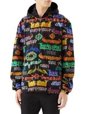 ae96065db GUCCI Nylon Coat with Metal Mix Print. #gucci #cloth | Gucci ...