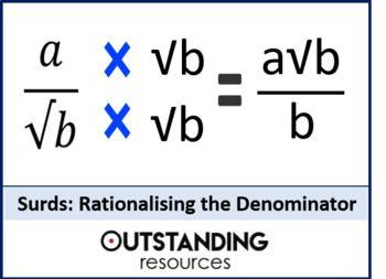 Surds 4 Rationalising The Denominator Worksheet S