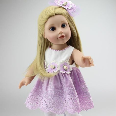 18 Inch 45 cm Fashion American Baby Girl Dolls Lifelike Silicone Reborn Baby Dolls For Kids Gifts Cheap Reborn Babies For Sale