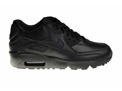 site nike air max 90 leather black black 302519-001