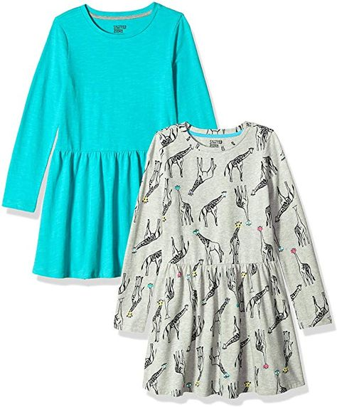 Spotted Zebra Girls French Terry Long-Sleeve Dresses Brand