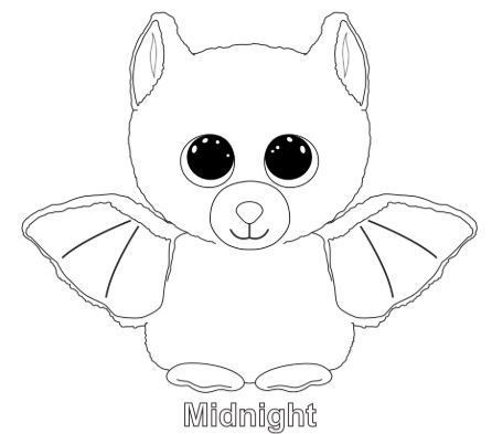 Beanie Boo Midnight Coloring Pages Baby Coloring Pages, Animal Coloring  Pages, Beanie Boo Birthdays