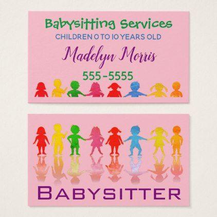 Babysitting Services Business Card Zazzle Com Services Business Cards Business Cards