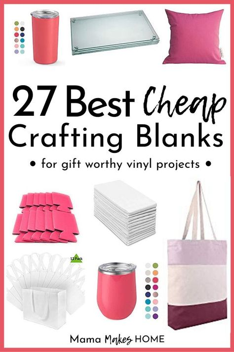 27 Best Cheap Craft Blanks for Vinyl Vinyl Crafts, Crafts To Do, Cricut Vinyl Projects, Cricut Project Ideas, Diy Crafts Useful, Vinyl Art, Easy Crafts, Crafts For Kids, Amazing Tools