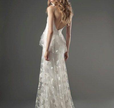 Wedding Hair Low Back Dress Dengan Gambar