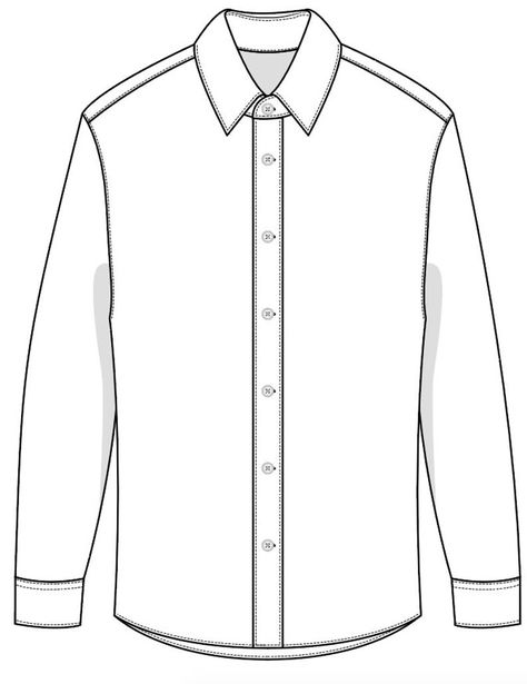 Flat Drawings, Flat Sketches, Formal Shirts For Men, Men Formal, Shirt Sketch, Corporate Uniforms, Shirt Template, Fashion Design Sketches, Drawing Clothes