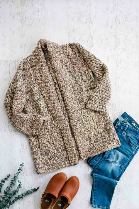 Up North Cardigan Crochet pattern by Jess Coppom Make & Do Crew