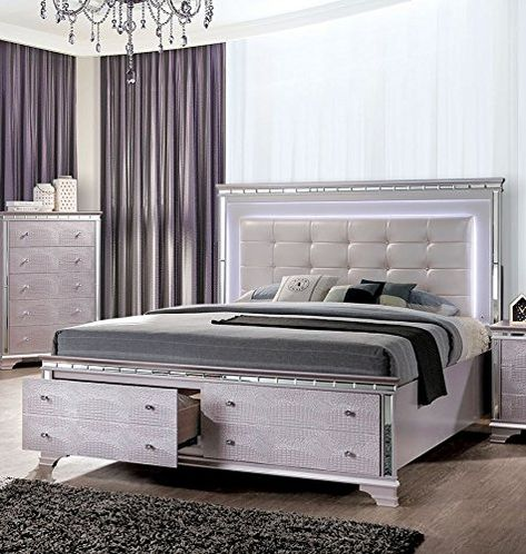Claudette Palace Rose Cal King Bed Oversized By Furniture Of