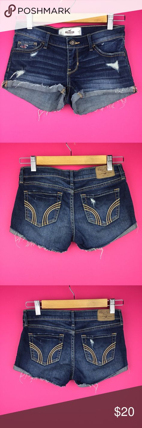 """Hollister Jean Shorts Cuffed Denim Shorts Stretch Hollister Womens Size 00 W 23 Jean Shorts Cuffed Denim Shorts Stretch Distressed  Condition: Excellent used condition Tag Size: 00 W 23 Measurements: Rise: 6"""" Inseam: 2""""  Please follow me for more great items and sweet deals! Thank you for shopping! Hollister Shorts Jean Shorts"""