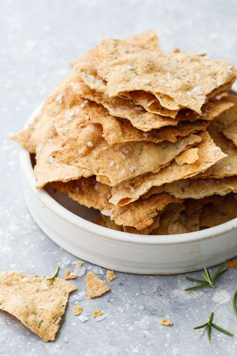 Sourdough Crackers with Olive Oil  Herbs