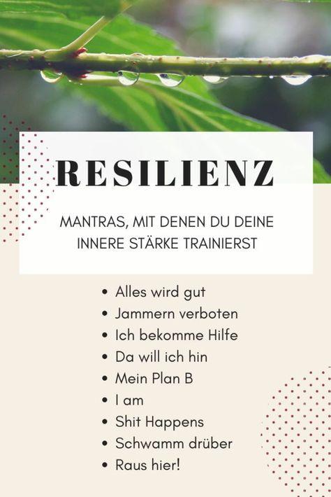 Mantras für mehr Resilienz und innere Stärke