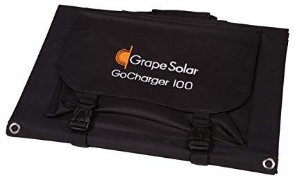 Grape Solar Gs Gocharger 100 100w Monocrystalline Foldable Solar Panel With 8mm Barrel Connector Review Solar Panels Solar Paneling