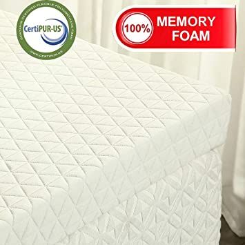"3/"" 4/""Foldable Memory Foam Mattress Topper Twin//Full//Queen//King Size Pad Mat US"