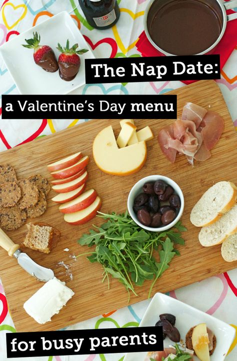 A great menu and tips for sharing some special time with your sweetie - even if you're busy w/ kids!