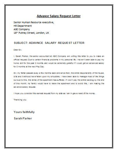 Employee Request Letter Sample