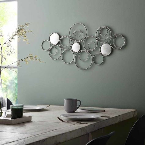 Graham Brown Eternal Swirl Metal Wall Art In 2020 Silver Wall