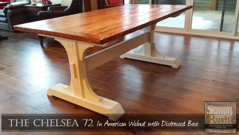 Double Pedestal Farmhouse Dining Table Do It Yourself Home