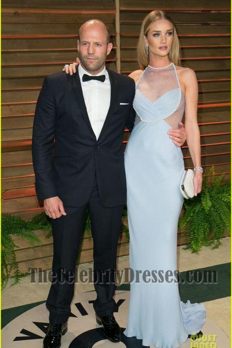 Rosie Huntington Whiteley Baby Blue Prom Dress Vanity Fair Oscar Party 2014 - TheCelebrityDresses