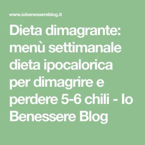 esempio menu settimanale dieta ipocalorica