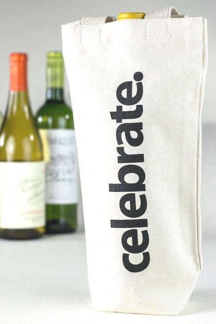 Celebrate Canvas Wine Tote Canvas Wine Tote Wine Tote Wine Bag