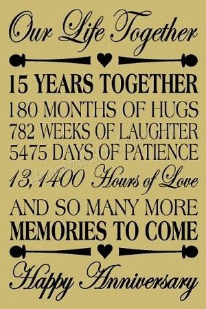 15 Year Anniversary 15th Anniversary Quotes Anniversary Wishes For Friends