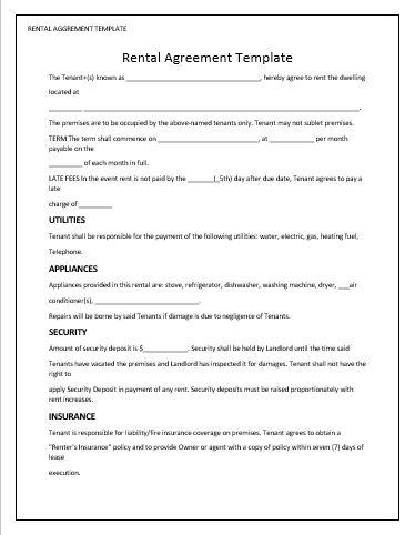 Rental Agreement Template wordstemplates Pinterest Template - indemnity agreement template