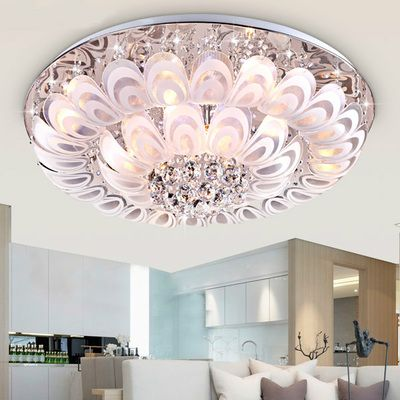 Modern romantic bedroom discolor led crystal ceiling lamp living room fixtures