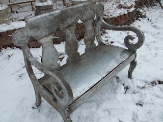 Vintage Farm Tin... Covered Victorian Settee... Oh...My!