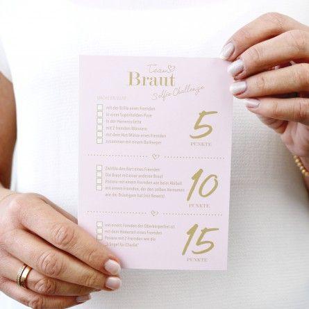 Selfie Challenge Team Braut Team Braut Hochzeit Shop Karte Hochzeit