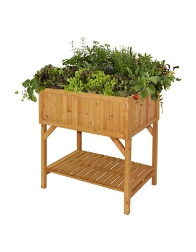 Vegtrug Cedar Wood Raised Planter Natural In 2020 Raised Garden Beds Herb Garden Planter Raised Planter Beds