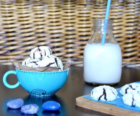 Choco-nana Crinkle Cookies (Whole wheat, Egg free, Dairy free)