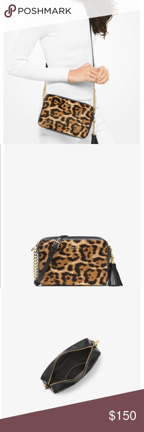 a207567ce63d ⚡️MK Ginny leopard calf hair Crossbody Brand new with tag Michael Kors Bags  Crossbody Bags
