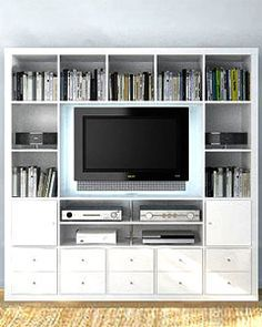 ikea entertainment wall storage systems - Google Search                                                                                                                                                     More