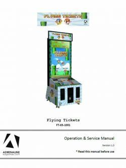 Flying Tickets By Adrenaline Amuzements Manual Owners Manuals Diagnostic Tool