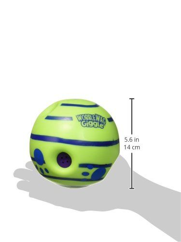 Wobble Wag Giggle Ball Interactive Dog Toy Fun Giggle Sounds As