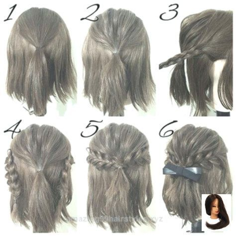Capital Easy Hairstyles For Church Frisuren Fur Girls Hairstyle Capital Easy Hairstyles For Churc In 2020 Simple Prom Hair Short Hair Hacks Short Hair Tutorial