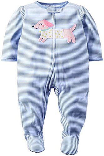 NWT Carters Unicorn Puppy Dog Toddler Girls Gray Footed Fleece Pajamas Sleeper