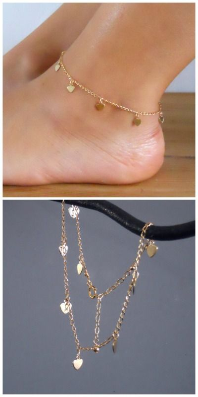 Stylish Womens Love Heart Anklet Foot Chain Gift Jewelry Charms Ankle Bracelet