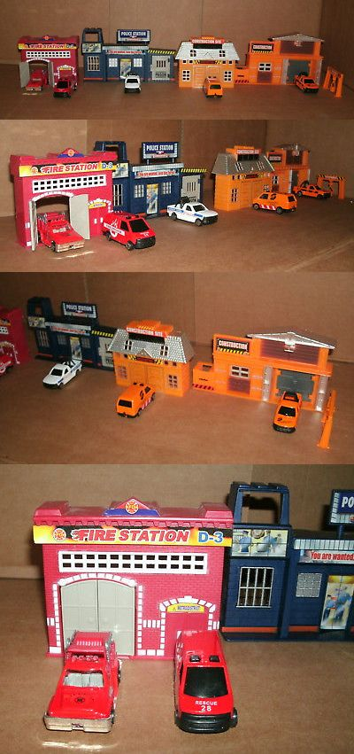 Buildings And Set Parts 171137 1 64 Scale City Street Diorama Police Fire Station Building Diecast Vehicles Buy It No Fire Station City Streets Diecast