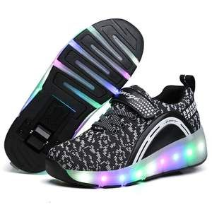 Hanglin Trade LED Light Up Shoes Fashion Sneaker for Kids Child Boy Girls LED Light up Sneakers Low Top Shoes