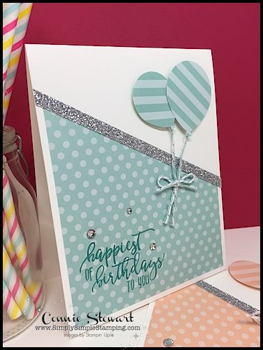 Birthday Balloons Make It In Minutes Video Simply Simple Stamping Handmade Birthday Cards Card Making Birthday Birthday Card Craft