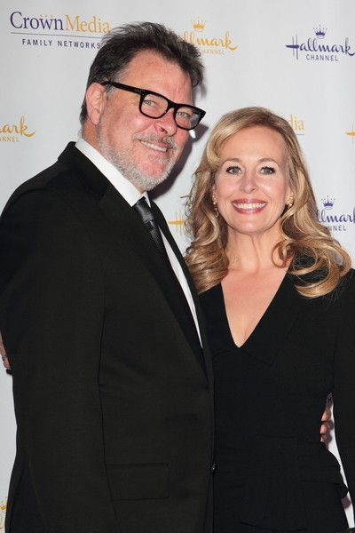 Jonathan Frakes with gracious, Wife Genie Francis