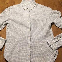 キャラメルポーチ型ペンケースの作り方 簡単 裏地 ファスナーの付け方 シャツ シャツ ボタン デニム リメイク